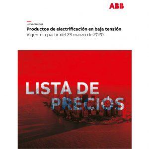 Lista de precios de electrificación en baja tensión ABB Colombia Marzo 2020