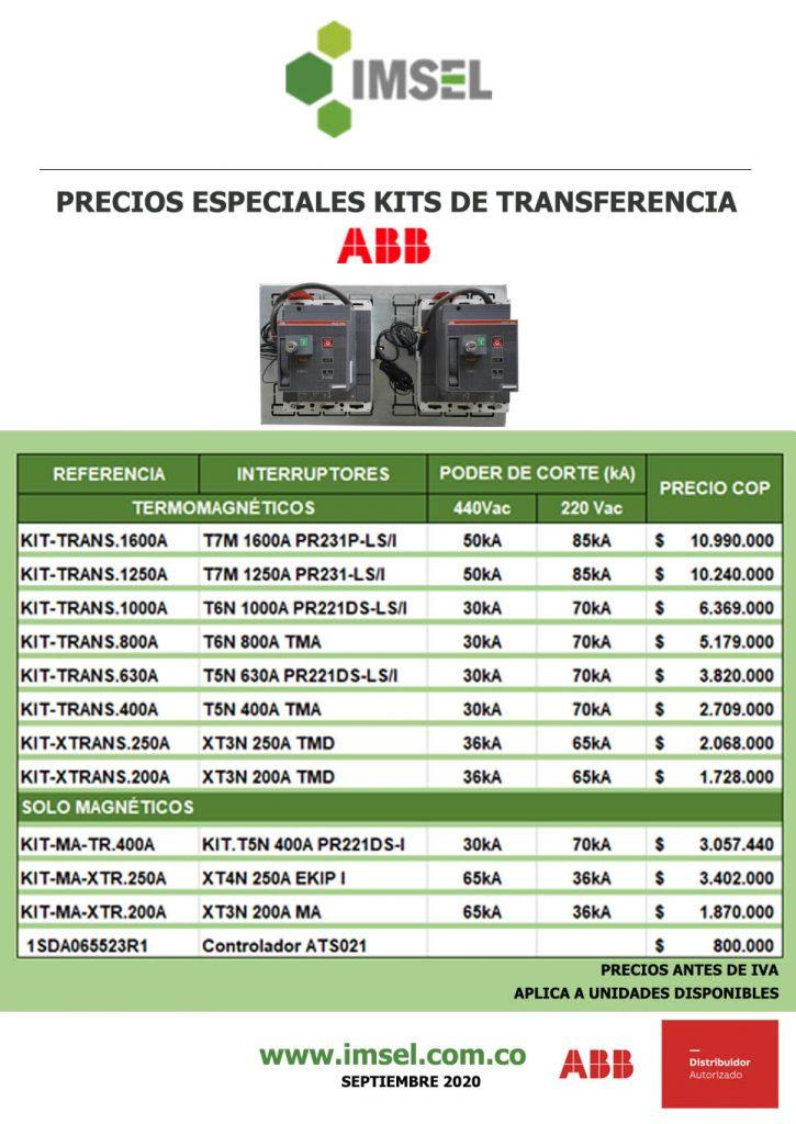 Precios kits de transferencia ABB