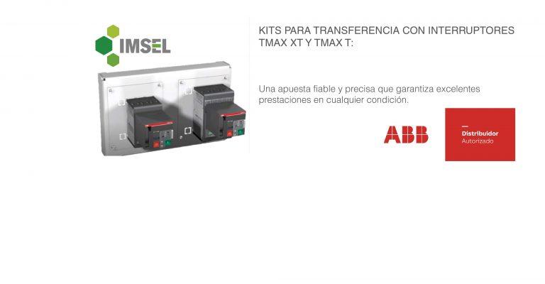 Precios especiales: Kits de transferencia por interruptores ABB