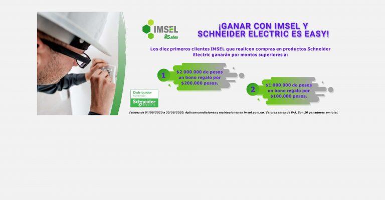 ¡Ganar con IMSEL y Schneider Electric es Easy!
